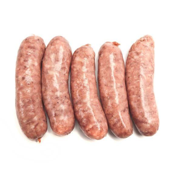 pork sausages from caterfish